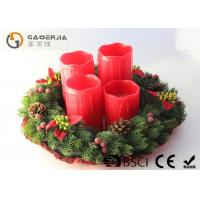 Wholesale Red Color Decorative Led Candles With Remote Control D8.5X12/14/16/18cm from china suppliers