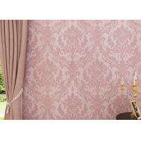 Wholesale Flocking Pink Floral Pattern European Style Wallpaper for Bedroom , Living Room from china suppliers