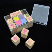 Buy cheap Alphabet wooden stamp set custom rubber kids toy stamp wholesale from wholesalers