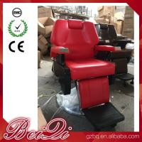 Wholesale Big Pump Red BarberChairs Used Hair Styling Chairs Luxury Barber Shop Furniture from china suppliers
