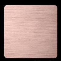 Wholesale Red Copper Ti-coating Colored 201 304 316 Hairline Stainless Steel Sheet GB, DIN, EN from china suppliers