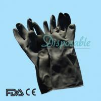 Wholesale Spray cotton lined latex household gloves industrial latex rubber hand gloves from china suppliers