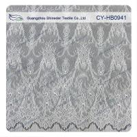 Wholesale Antique Decorative Eyelash Lace Trim Fabric With Scallop , Floral Lace Trim from china suppliers