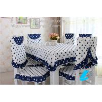 Wholesale Dot design cotton dining tablecloth and chair cover set wholesale, table linens supply, from china suppliers