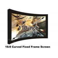 Quality 3D Wall Mount Home Theatre Screens , 110 inch Projection Screen 15 Curved Degree for sale