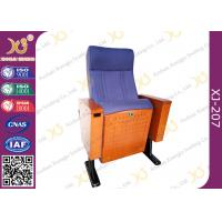 Wholesale Wood Box Armrest Conference Hall Chairs With Foldable PU Foam Seat from china suppliers