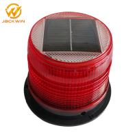 Wholesale Hot Compression Resistance Solar PC Red Rotating Beacon Light  Diameter 18*14cm from china suppliers