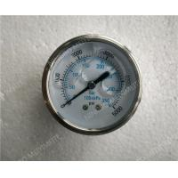 Quality 63mm All Stainless Steel Liquid Filled Glycerin Pressure Gauge with Roll Ring Bezel for sale