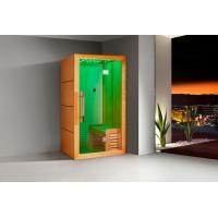 Wholesale Monalisa I-007 far infrared sauna room with light wave sauna enclosure Canadian cedar wood sauna house with light wave from china suppliers