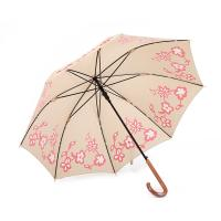 Quality 23 Inch 8 Ribs New Design Custom Print Straight Umbrella with Wooden Handle for sale