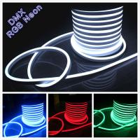 Wholesale festival decoration AC 110V flexible neon rope light 14*26mm IP67 soft tube light 120v from china suppliers