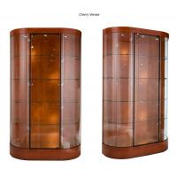Buy cheap Curve Wall Case Glass Shop Display Cabinets With Halogen Spotlights from wholesalers