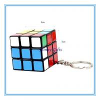 Wholesale Cube Puzzle Magic Game Toy Keychain Keyring Gift  3*3*3 from china suppliers
