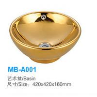 Wholesale Bathroom Ceramic Round Goden Basin MB-A001 from china suppliers