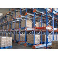 Wholesale Orange / Blue Shuttle Pallet Racking Storage System , Selective Pallet Racking System from china suppliers