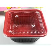 Wholesale Square Take Away Plastic Food Trays Black For Restaurant 800ml from china suppliers