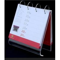 Wholesale A5 5mm Clear Acrylic Calendar Holder Display Rack Customized from china suppliers
