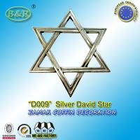 Wholesale zamak david star silver color D009 Jewish coffin decoration metal accessories from china suppliers