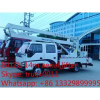 Wholesale hot sale best price Japanese ISUZU 14m-16m high altitude operation truck, ISUZU 4*2 LHD aerial working truck for sale from china suppliers