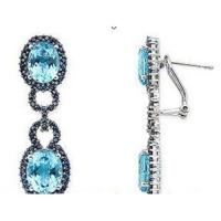 Wholesale Blue topaz & Blue Sapphire earrings from china suppliers