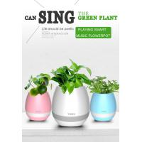 Wholesale mini ABS plastic bluetooth LED smart music flower pot with night light for indoor use from china suppliers