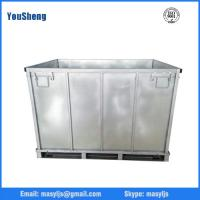 Wholesale Collapsible and stackable Powder Coating steel storage Container from china suppliers