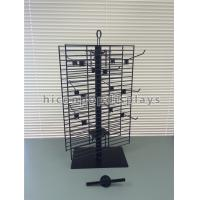 Wholesale 2 Way Rotating Metal Wire Display Shelving Glove Display Stand With Metal Hooks from china suppliers