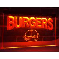 Wholesale LED Lighted Acrylic Burgers Cafe LED Neon Light Sign Edge Lit Logo Display from china suppliers