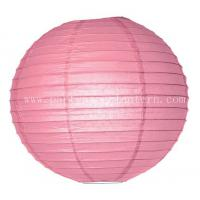 Wholesale Outdoor Hanging 6 Inch Pink Party Paper Lantern Decoration Wedding from china suppliers