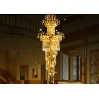 Wholesale Large-Scale Luxury Golden Crystal Chandlier Lamp for Villa Stair Lights or Hotel Lobby from china suppliers