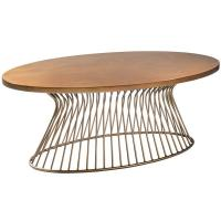 Wholesale Soft Wire Brushed Distressing Solid Wood Coffee Table , Oak Occasional Tables  from china suppliers