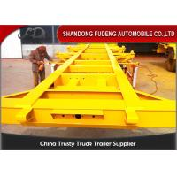 Wholesale 2 / 3 Axles Chassis Trailer / Load Capacity 50 Ton Shipping Container Trailer  from china suppliers