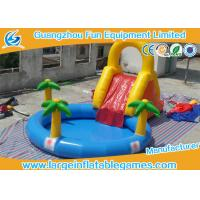 Wholesale Forest Toddler Commercial Inflatable Slide High Strength Fire Resistant inflatable slide with pool from china suppliers