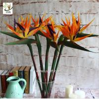Wholesale UVG FBP112 party decoration idea artificial flowers uk in orange bird of paradise for home garden landscaping from china suppliers