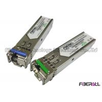 Buy cheap Bi-Directional 1.25G SFP Fiber Optic Transceiver Single Fiber LC 1550Tx/1330Rx 40KM from wholesalers