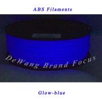 Wholesale 1.75mm ABS 3D Printer Filament 1KG 2.2lbs with Spool for Makerbot Glow-blue from china suppliers