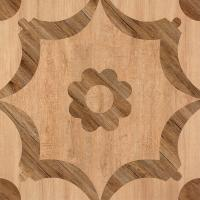 Wholesale Matte Finish  600*600 Rustic Wood Look Ceramic Tile  Flower Design In Bathroom Floor from china suppliers