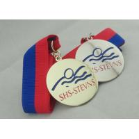 Wholesale Nickel Plated Ribbon Medals Square With Offset Printing Sticker from china suppliers