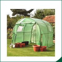Quality Agricultural Plastic Hot Houses Foldable Greenhouse With Film Or Plastic Sheet 6x8x6.6 Plant Growth Powder coated for sale