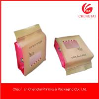 Wholesale Matt Material Candy Packaging Plastic Block Bottom Bags With Clear Window from china suppliers