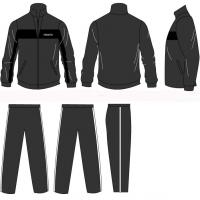 Wholesale Black Half Jacket Zip Autumn Winter Sports Track Suit With Customized Embroidery Logos from china suppliers