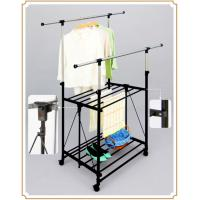 Wholesale Telescopic Roating Mobile Clothes Rack on Wheels , Adjustable Garment Drying Racks from china suppliers