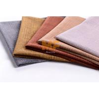 Linen like warp knitting burnout printing jacquard style upholstery fabric for sofa, curtain, automobile textile
