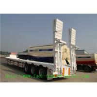 Buy cheap Tri - Axle 60 Ton Low Flatbed Semi Trailer / Low Bed Truck Trailer For Excavator Transportation from wholesalers