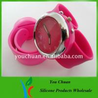 Wholesale Eco-friendly Slap Wristwatch, Silicone Wrist Watches With Colorful Dial For Christmas Gift from china suppliers