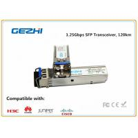 Wholesale 1.25Gbps SFP Optical Transceiver , 120km Reach Single Mode SFP EZX Optical Transceiver from china suppliers
