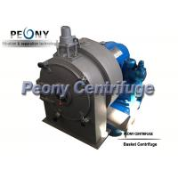 Wholesale Automatic Single Stage Pusher Perforated Basket Centrifuge , Industrial Centrifuge from china suppliers