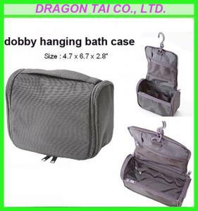 "Wholesale black nylon hanging bath bag, travel bath hangbag,measure 4.7*6.7*2.8"" from china suppliers"