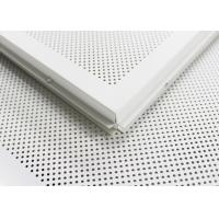Wholesale White Perforated Lay In Ceiling Tiles 2 x 2 , Metal Ceiling Tiles For Train station from china suppliers