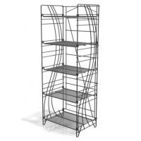 Wholesale Retail Foldable Wire Beverage Wine Display Stands With 5 Adjustable Shelves from china suppliers
